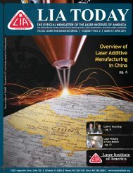 Overview of Laser Additive Manufacturing in China