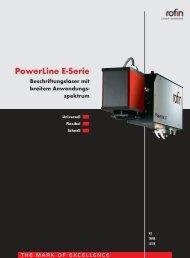 PowerLine E-Serie Beschriftungslaser mit breitem ... - Rofin