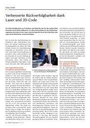 Verbesserte Rückverfolgbarkeit dank Laser und 2D ... - Laser Magazin