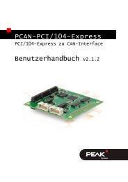 PCAN-PCI/104-Express - Benutzerhandbuch - PEAK-System