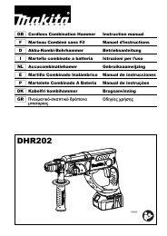 Makita Perfo-burineur SDS-Plus 18 V Li-Ion 5 Ah 20 mm - DHR202RTJ - Notice