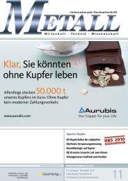 Klar,Sie könnten ohne Kupfer leben - Metall-web.de