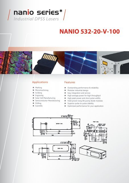NANIO 532-20-V-100 Industrial DPSS Lasers - InnoLas Laser