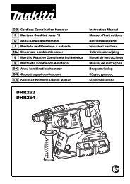 Makita Perfo-burineur SDS-Plus 36 V => 2 x 18 V Li-Ion 5 Ah 26 mm (4 batteries) - DHR264PT4J - Notice