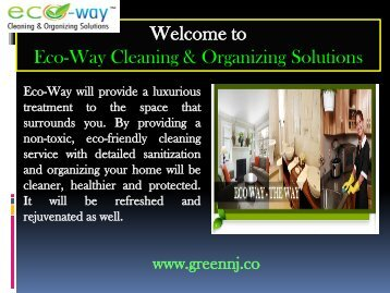 Green Cleaning Service New Jersey| Eco-Way Cleaning & Organizing Solutions