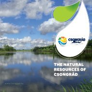 The natural resources of Csongrad