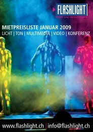 mietpreisliste januar 2009 - Flashlight