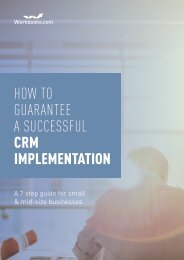 HOW TO GUARANTEE A SUCCESSFUL CRM IMPLEMENTATION