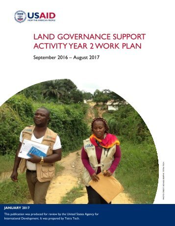 LAND GOVERNANCE SUPPORT ACTIVITY YEAR 2 WORK PLAN