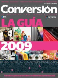 guía de proveedores 2009 - Conversión