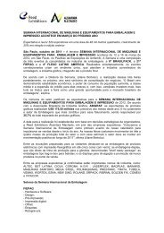 SEMANA INTERNACIONAL DE MÁQUINAS E EQUIPAMENTOS ...