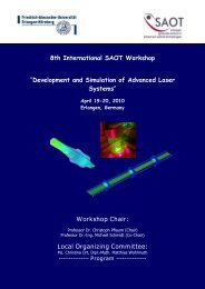 Development and Simulation of Advanced Laser Systems - SAOT