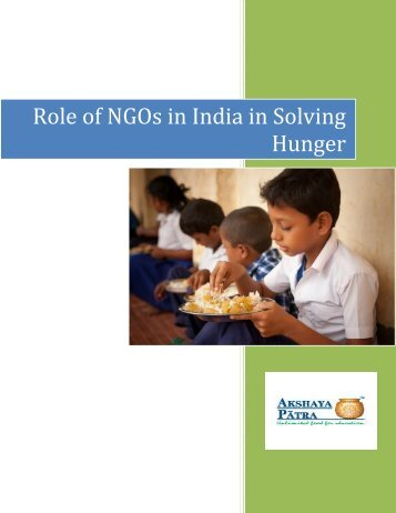 Role of NGOs in India in Solving Hunger