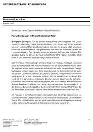 Presse-Information - PORSCHE DESIGN Presseportal