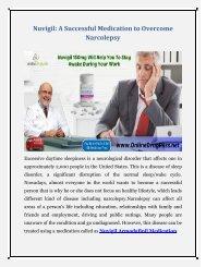 Nuvigil Armodafinil: A Successful tablet to Overcome Narcolepsy