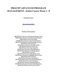 PROJ 587 ADVANCED PROGRAM MANAGEMENT - Entire Course Week 1 - 8