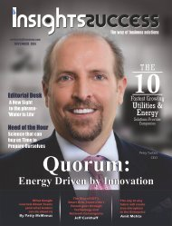 Insights Success The 10 Fastest Growing Utilities and Energy Solutions Provider Companies