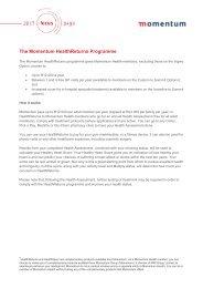The Momentum HealthReturns Programme
