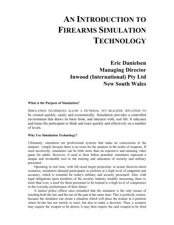 An introduction to firearms simulation technology