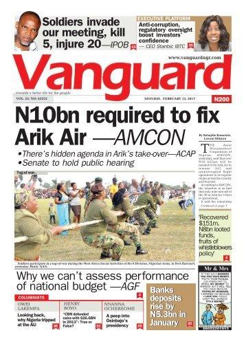 13022017 - N10bn required to fix Arik Air —AMCON