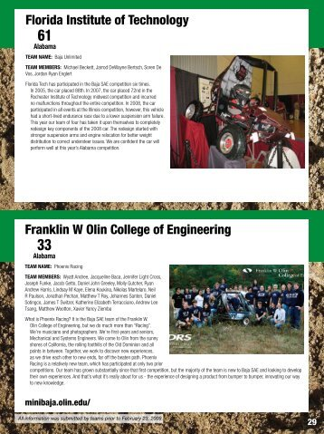 Florida Institute of Technology Franklin W Olin College of ... - Students