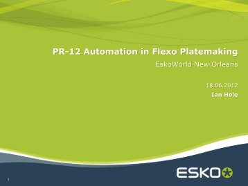 PR-12 Automation in Flexo Platemaking - Esko