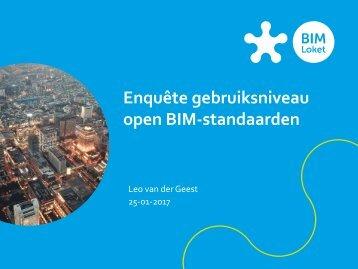 Enquête gebruiksniveau open BIM-standaarden
