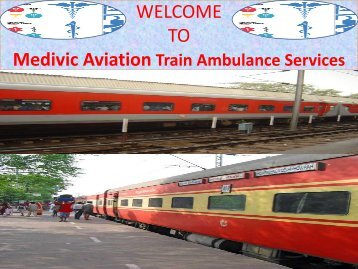 Train Ambulance Services in Chennai and Kolkata