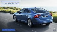 volvo s60 SECURITY