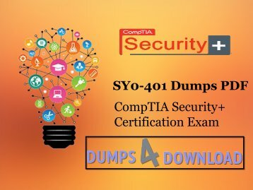 SY0-401 Dumps Free Download PDF - Dumps4download.com