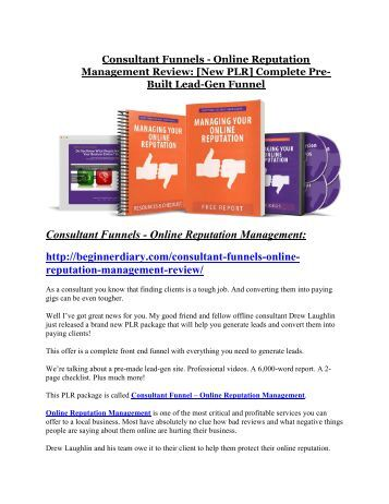 Consultant Funnels-Online Reputation Management review-$16,400 Bonuses & 70% Discount