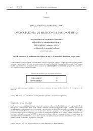 OFICINA EUROPEA DE SELECCIÓN DE PERSONAL (EPSO)