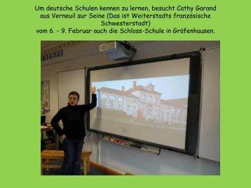 Um deutsche Schulen kennen zu lernen, besucht