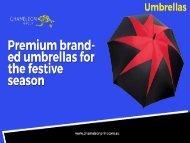 Promotional Branded Umbrellas - Chameleon Print Group - Australia