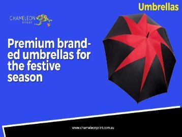 Promotional Branded Umbrellas - Chameleon Print Group - Australia