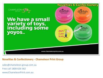 Promotional Novelties & Confectionery - Chameleon Print Group
