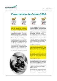 Finanzberater des Jahres 2006 - Performance AG