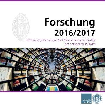 Forschungsbroschüre 2016/2017