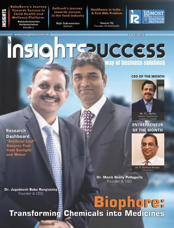 Insights Success The 10 Most Valuable Healthcare Solutions Provider 2016