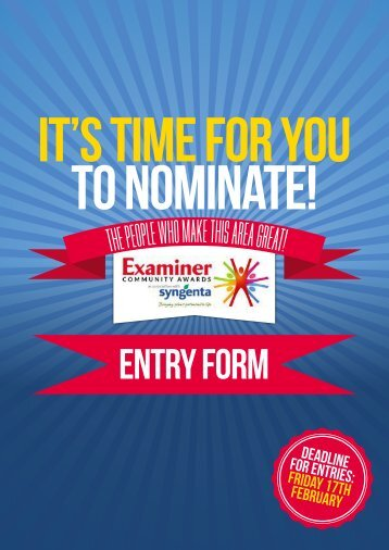 IT'S TIME FOR YOU TO NOMINATE!