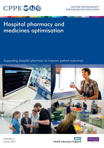 Hospital pharmacy and medicines optimisation