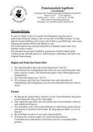 Hausordnung - Grundschule Pestalozzischule Ingelheim