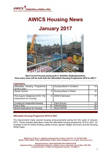 AWICS Housing News January 2017