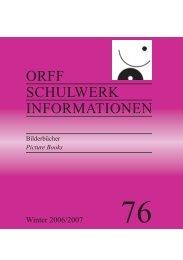 ORFF SCHULWERK INFORMATIONEN - Orff Schulwerk Forum Salzburg