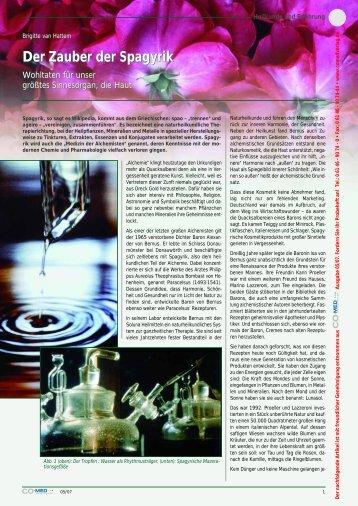 Der Zauber der Spagyrik - Brigitte van Hattem