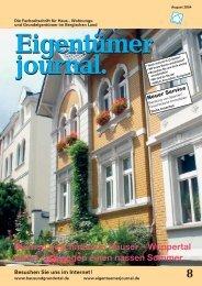 Blumen geschmückte Häuser - Eigentümerjournal