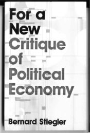 For a New Critique of Political Economy - AAAARG.ORG