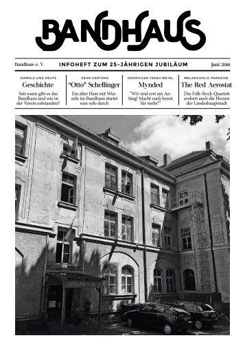 Bandhaus Infoheft 2016