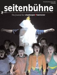 seitenbühne Nr. 6 - Niedersächsische Staatstheater Hannover