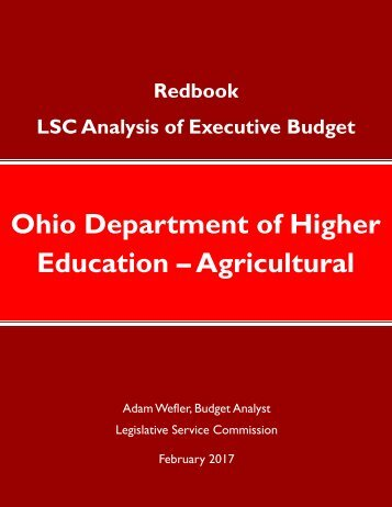 Ohio Department of Higher Education – Agricultural